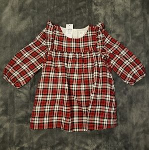 Baby Gap: 12-18 months plaid ruffle dress